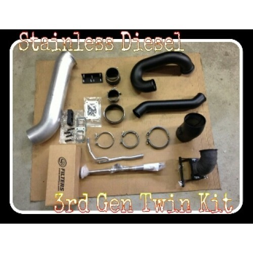 03-07 DODGE 5.9 STAINLESS DIESEL TWIN PIPEING KIT