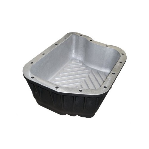 PPE Heavy Duty DEEP AluminumTrans Pan - Brushed 94-07 47RE,48RE