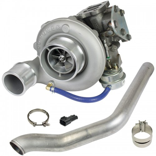 Super B Single SX S358 Turbo Kit w/FMW Billet Wheel - Dodge 2004.5-2007 5.9L