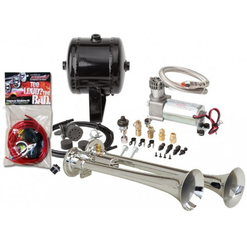 Kleinn HK2 - Dual ChromeTruck Air Horn Kit