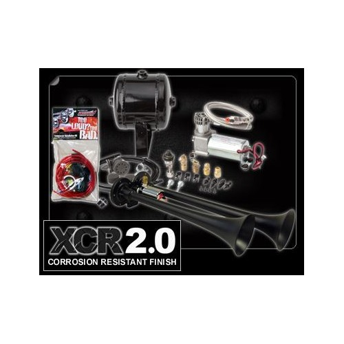Kleinn HK2-1 Dual Black Truck Air Horn Kit