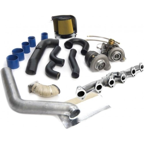 R700 Tow & Track Turbo Kit w/FMW Billet Wheel on Secondary - Dodge 98-02 24v