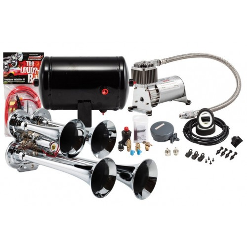 Klien HK4 ProBlaster complete chrome compact quad air horn package