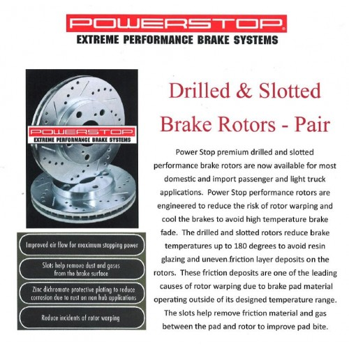 2005-2012 Power Stop Drilled & Slotted Rear Brake Rotors