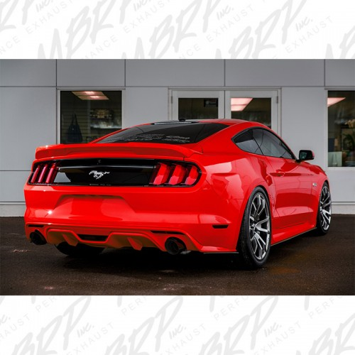 "2015-2017 Ford - Mustang GT 5.0 - Coupe Only 3"" Cat Back, Dual Split Rear, Street Version, 4.5"" tips, Black Coated"