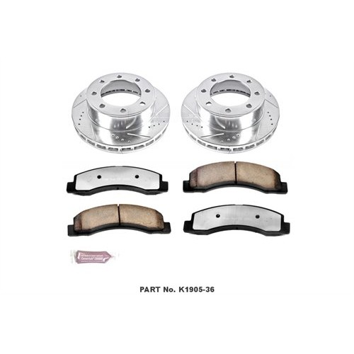1999-04 Ford F250/F350 Power Stop Z36 Front Brake Pads & Rotor Kit for Truck and Tow