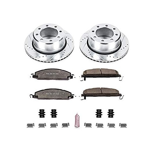 2009-2018 RAM 2500-3500 Power Stop Z36 Truck and Tow Drilled and Slotted Brake Kit