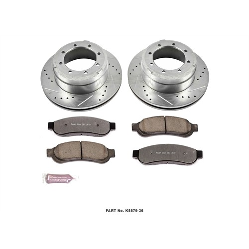 2011-2012 Ford F350/F450 Power Stop Z36 Severe-Duty Truck And Tow Rear Brake Kit
