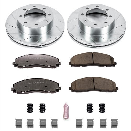 2013-19 Ford F250/F350 Power Stop Z36 Front Brake Pads & Rotor Kit for Truck and Tow