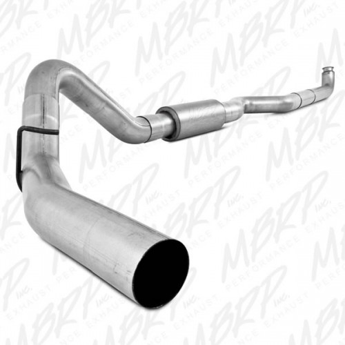 "GM 01-07 2500/3500 Duramax, Ec/Cc 4"" Down Pipe Back, Single Side, Off-Road (Includes Front Pipe)"