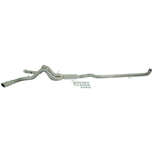 GM 01-07 2500/3500 Duramax, Ec/Cc - Down Pipe Back, Cool Duals Off-Road (Includes Front Pipe) T409