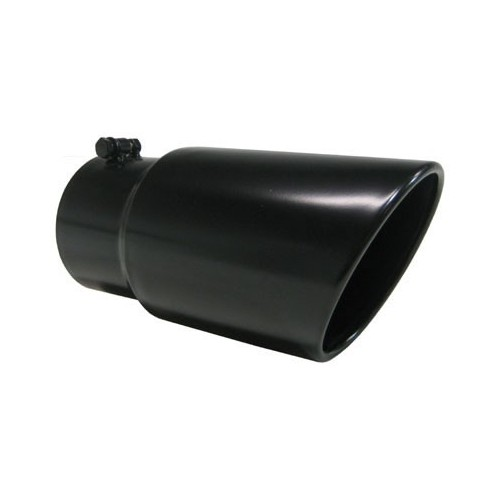 "Universal Tip 5'' Inlet, 6"" Outlet Dual Wall Angled Black Finish 12"" Length"