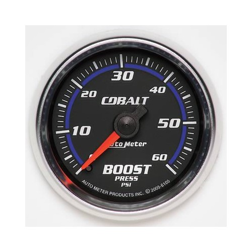 AUTOMETER COBALT SERIES 0-60 BOOST GAUGE